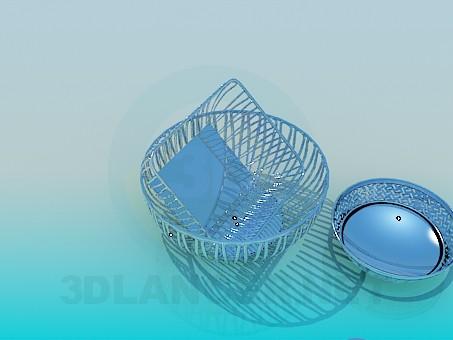 modelo 3D Utensilios de acero inoxidable - escuchar