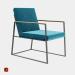3 डी मॉडल धातु कुर्सी स्कैंडिनेवियाई काल्पनिक - पूर्वावलोकन