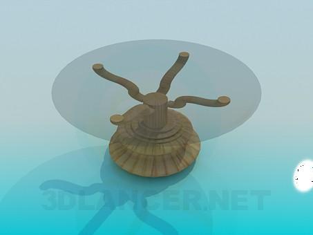 modelo 3D Mesa con pata sólido - escuchar