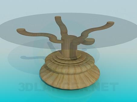 3d модель Стол с массивной ножкой – превью