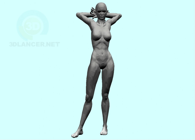 3d model woman-3 - preview
