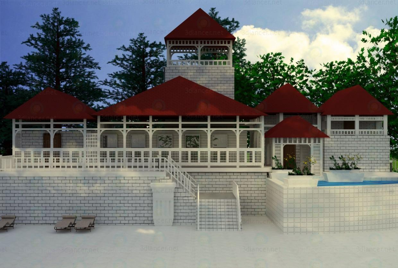modelo 3D Casa para descanso - escuchar