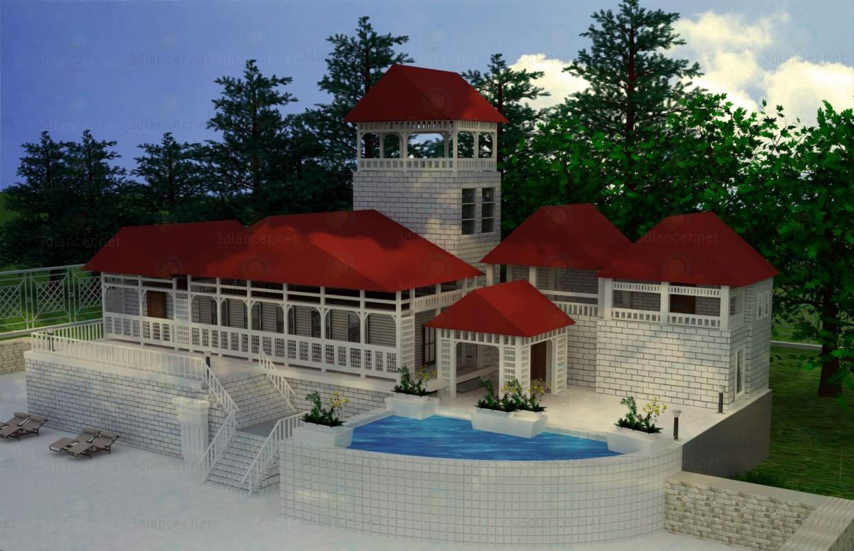 descarga gratuita de 3D modelado modelo Casa para descanso