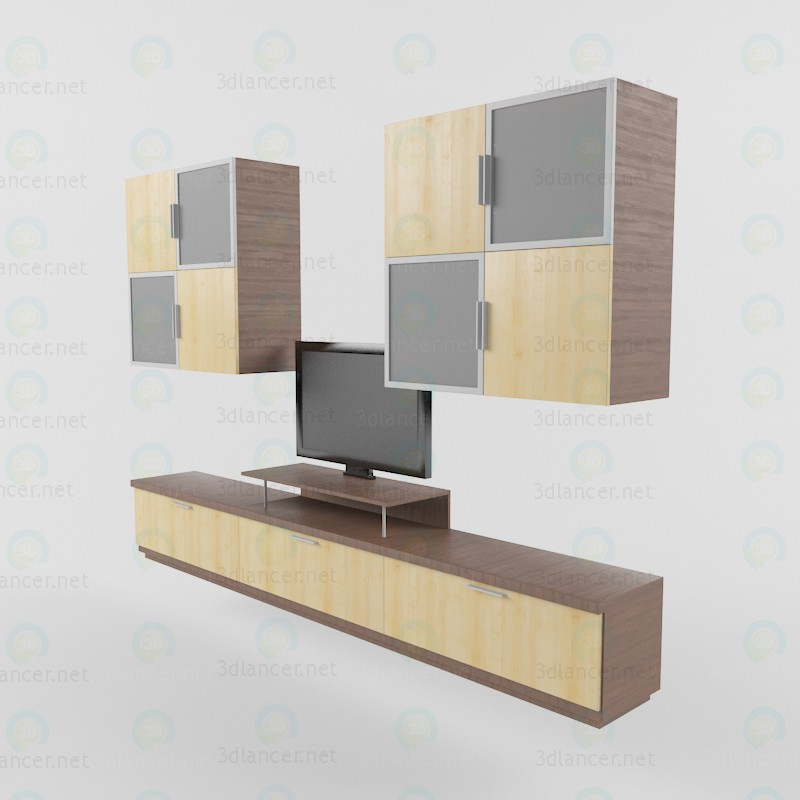 modelo 3D Rack para TV - escuchar