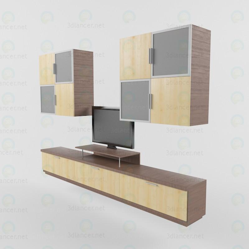 3d модель Стелаж під телевізор – превью