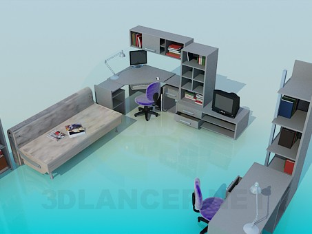 3d model Furniture for your home work room - preview