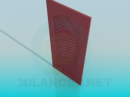 3d model Door in grille for kitchen cabinet - preview