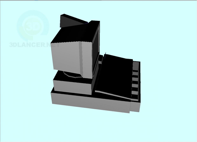 3d модель Кассовый апарат – превью