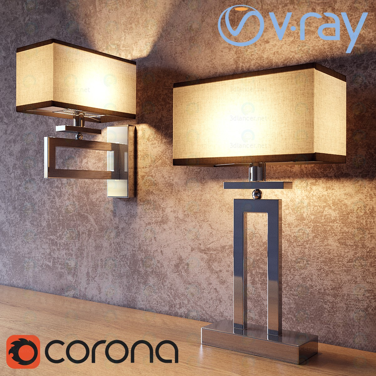 3d modeling Table lamps and sconces Megapolis Maytoni model free download