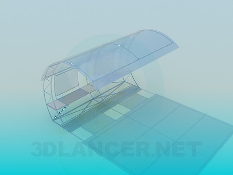 modelo 3D Parada de autobús - escuchar