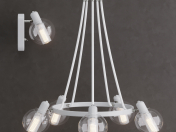 Suspended chandelier 3648/5 Lumion RITA and Sconce 3648 / 1W Lumion RITA