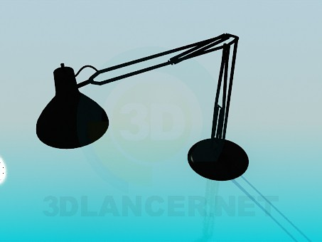 3d modeling Table lamp on a flexible stem model free download
