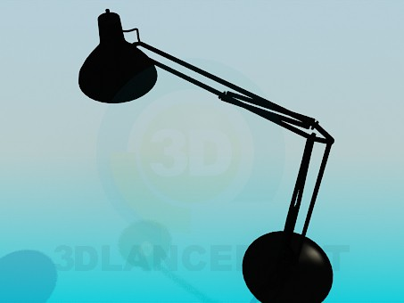 3d model Table lamp on a flexible stem - preview