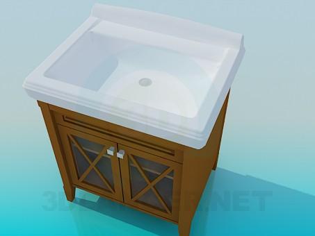 modelo 3D Gran lavabo - escuchar