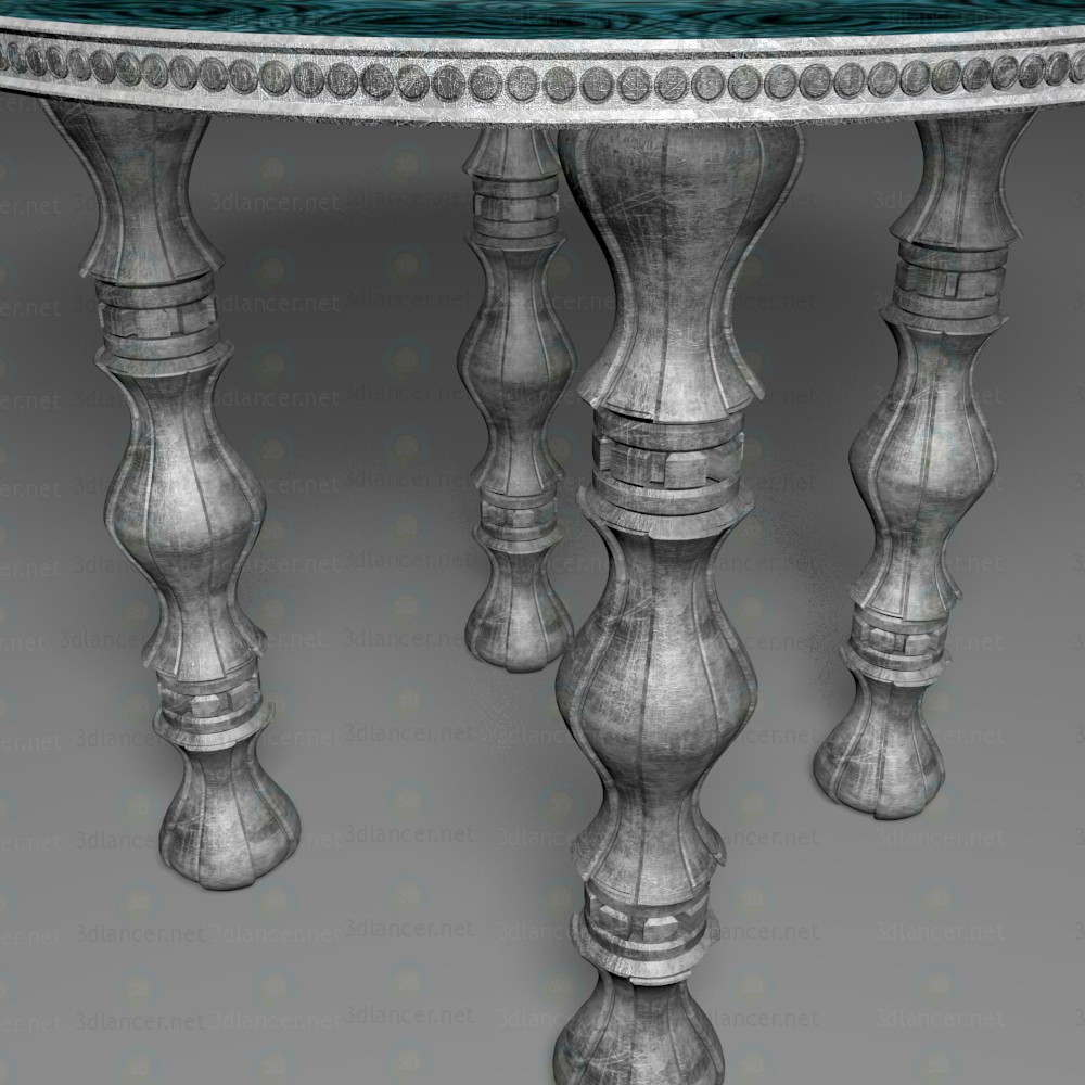Mesa redonda 3D modelo Compro - render