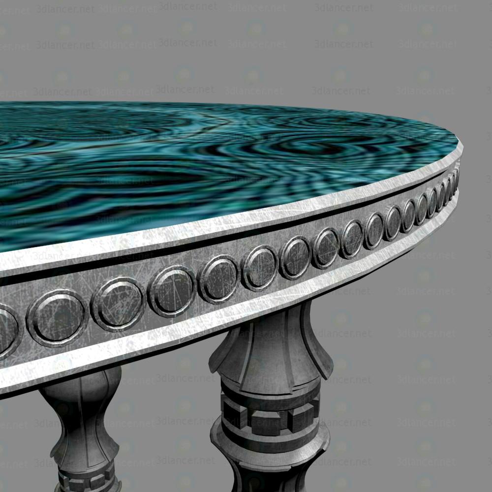 3d Круглый столик модель купить - ракурс