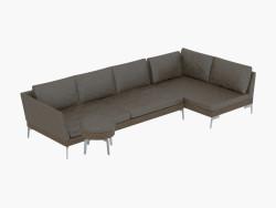 o sofá de couro modular fianco 209
