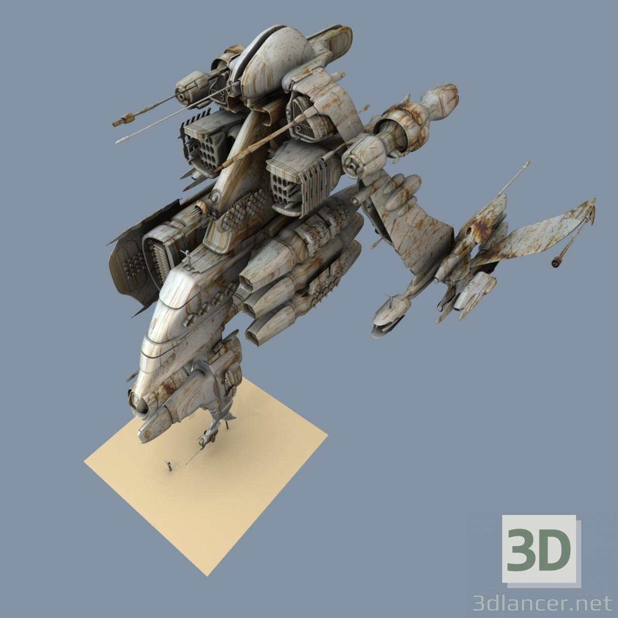 3d model Old gun - preview