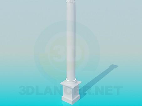 3d modeling Colonna model free download