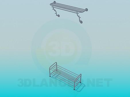 modelo 3D El conjunto de base y soporte - escuchar