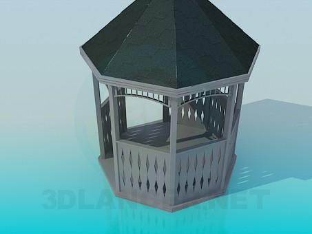 3d model Wooden pergola - preview