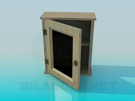 3d моделирование Навесной шкафчик модель скачать бесплатно