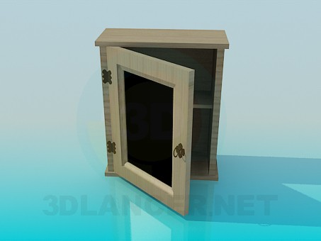3d modeling Hinged cupboard model free download