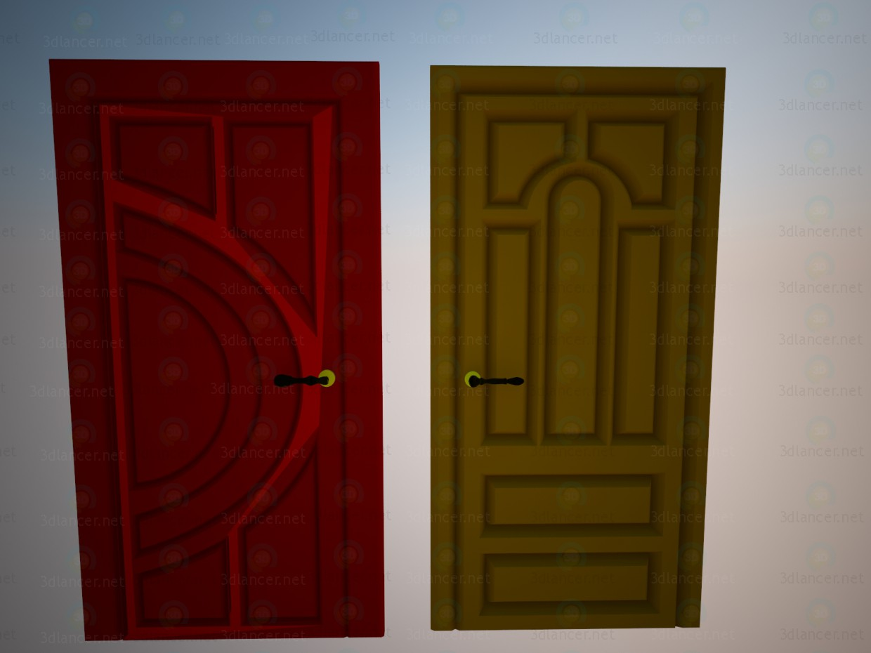 3d model Entrance doors Kommunar - preview