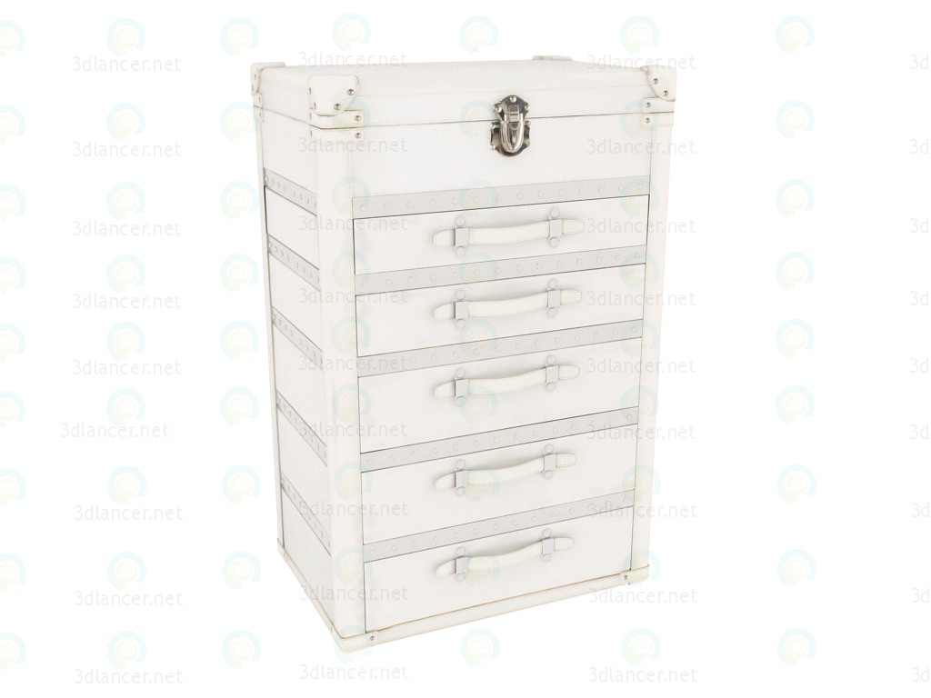 3d modeling Chest of drawers with 5 drawers Diva Maku UP 5 Drawers model free download