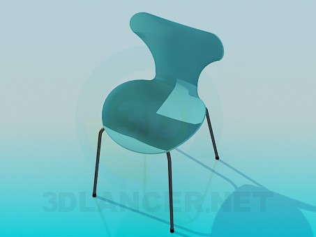 3d model Solid stool - preview