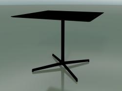 Tavolo quadrato 5551 (H 72.5 - 89x89 cm, Nero, V39)