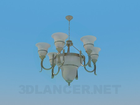 3d model Chandelier for a large conference room - preview