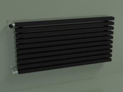 Radiatore orizzontale RETTA (10 sezioni 1000 mm 60x30, nero opaco)