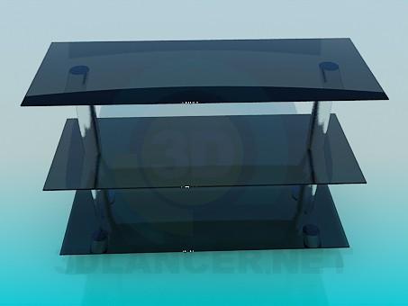 3d моделирование Тумба стеклянная модель скачать бесплатно
