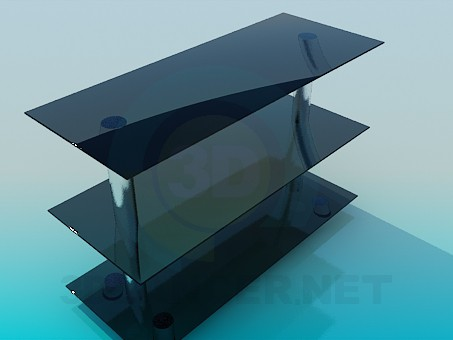 3d модель Тумба стеклянная – превью