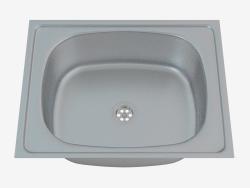 Fregadero, 1 recipiente sin ala para secar - Satin Techno (ZEU 010A)