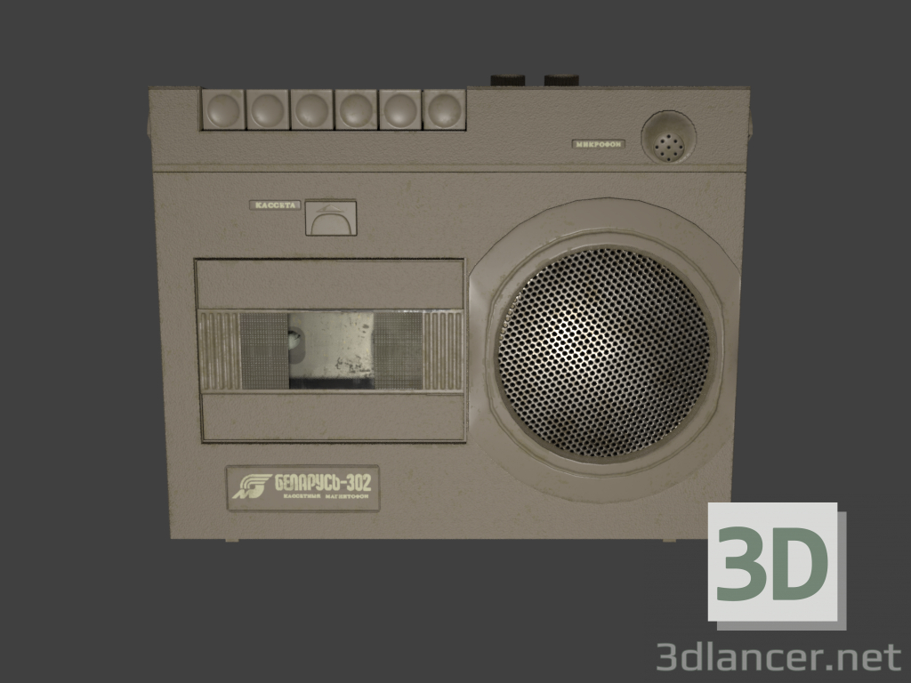 3d Tape Belarus-302 model buy - render