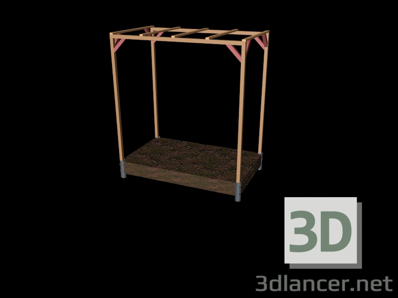 3d model tomato house - preview