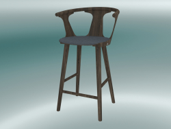 Bar chair In Between (SK8, H 92cm, 58x54cm, Smoked oiled oak, Fiord 171)