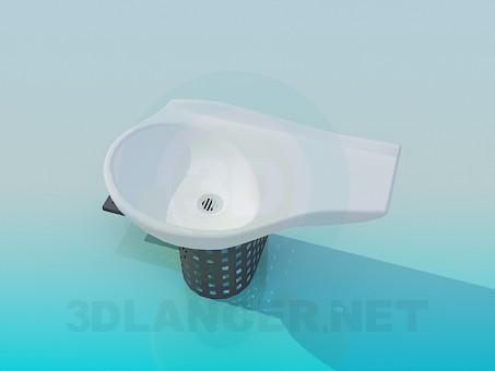 3d модель Современная раковина – превью