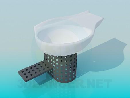 modelo 3D Lavabo moderno - escuchar