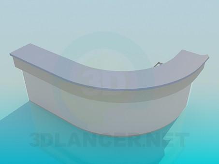 3d модель Полукруглая стойка ресепшн – превью