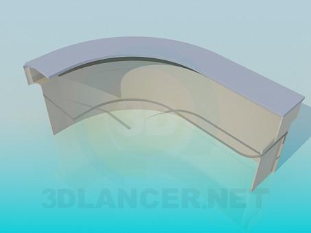 3d model Semicircular reception desk - preview