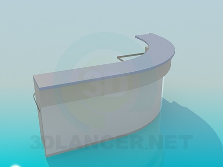 3d model Semicircular reception desk - preview