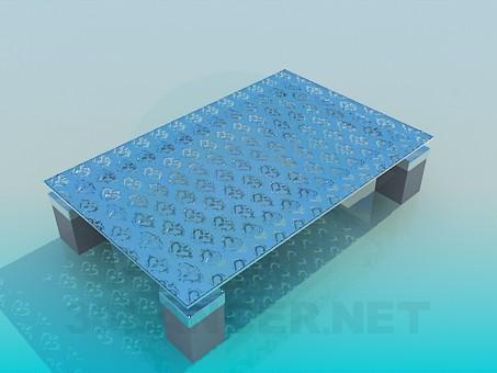 3d модель Журнальный столик со стеклянной матовой поверхностью – превью