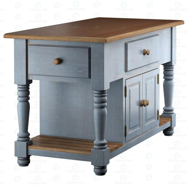 3d Vivien kitchen island model buy - render