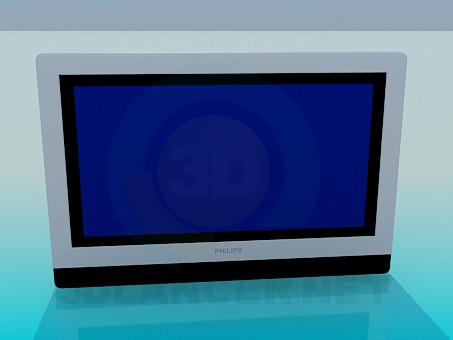 3d modeling LCD Philips model free download