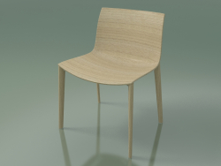 Chair 2087 (4 wooden legs, without upholstery, bleached oak)