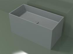 Умывальник на столешницу (01UN42101, Silver Gray C35, L 72, P 36, H 36 cm)