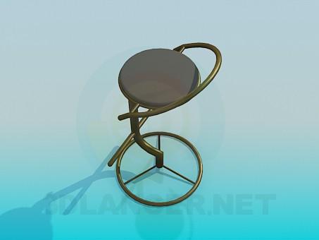 modelo 3D Silla de la barra - escuchar